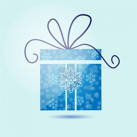 Photo for Vector illustration of Christmas gift box with snowflakes. - Royalty Free Image