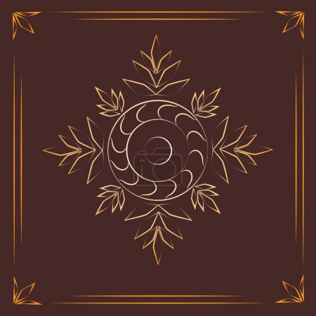 Photo for Vintage background with golden elements. - Royalty Free Image