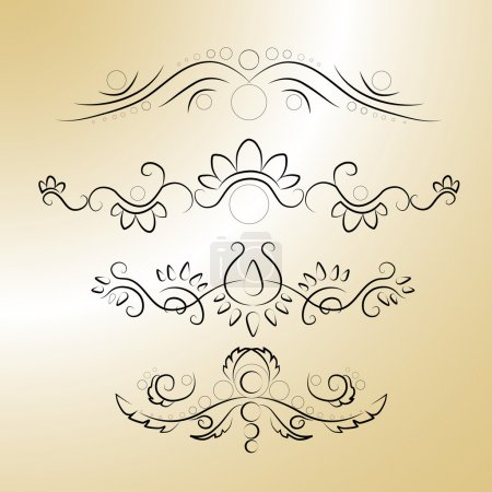 Photo for Vector calligraphic elements. Vector illustration. - Royalty Free Image