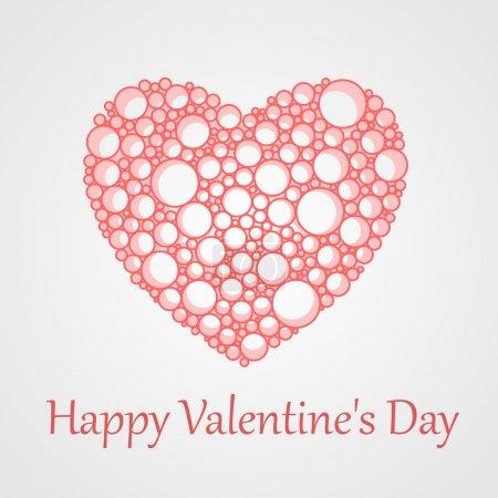 Vektorkarte für Valentinstag mit Herz.