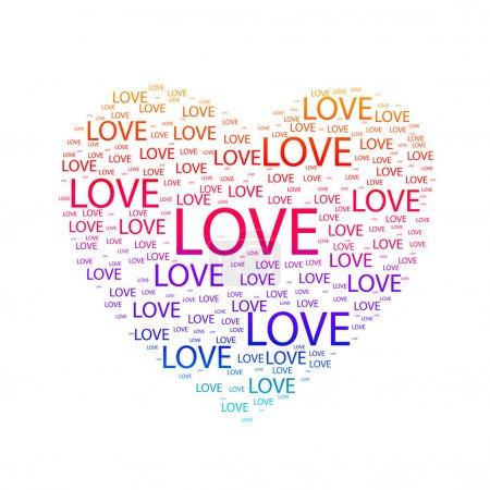 Illustration pour Cœur d'amour. Illustration vectorielle - image libre de droit