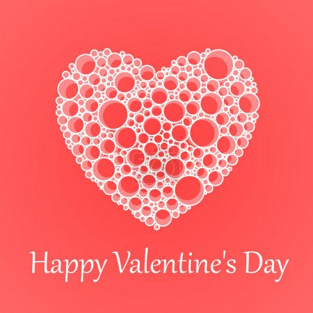 Vector card for Valentine's Day with heart.