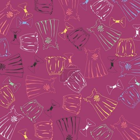Illustration pour Fond vectoriel avec vêtements . - image libre de droit