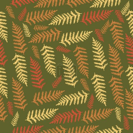 Vector background with leaves.