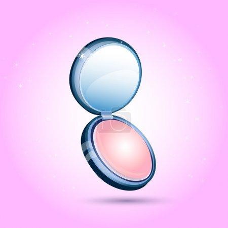 Illustration pour Poudre cosmétique compacte. Illustration vectorielle . - image libre de droit