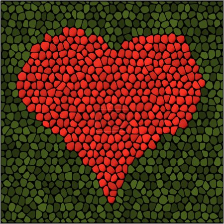 Photo for Mosaic heart. Vector illustration. - Royalty Free Image