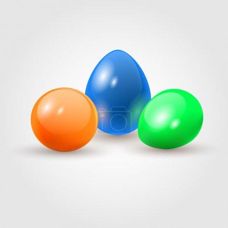 Illustration pour Œufs de Pâques colorés. Grains blancs . - image libre de droit