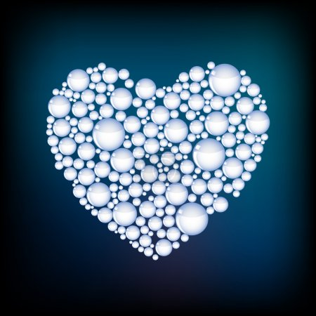 Photo for Vector heart from bubbles. - Royalty Free Image