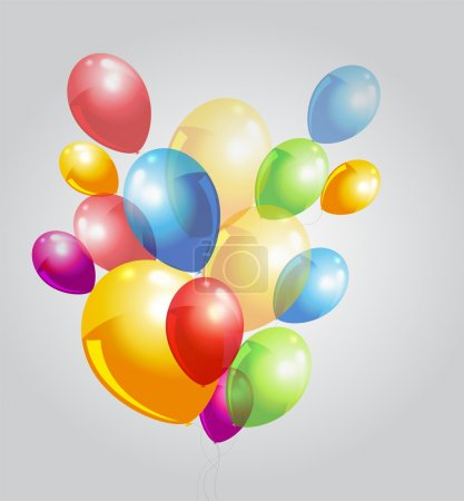Illustration for Background with colorful balloons. - Royalty Free Image