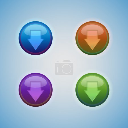 Illustration for Vector set of buttons with arrow. - Royalty Free Image