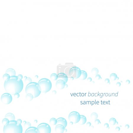Vector background with bubbles.