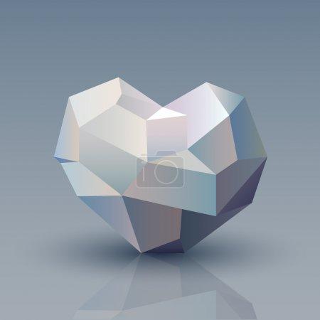 Illustration pour Illustration vectorielle du cœur géométrique . - image libre de droit