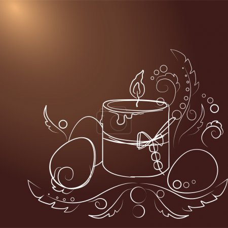 Photo for Vector Easter background. Vector illustration. - Royalty Free Image