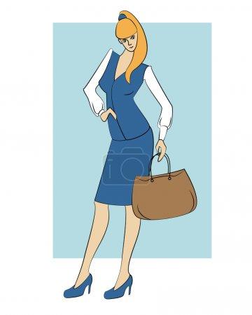 Illustration pour Illustration vectorielle d'une femme d'affaires . - image libre de droit