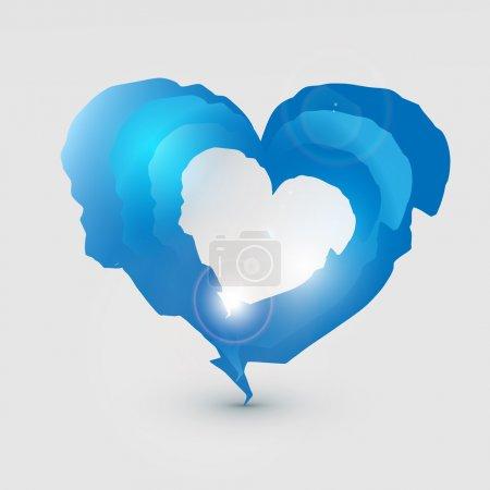 Corazón desgarrado. Ilustración vectorial .