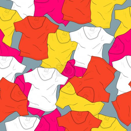 Vector background with t-shirts.