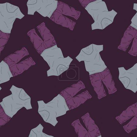 Photo pour Fond vectoriel avec short et t-shirts . - image libre de droit
