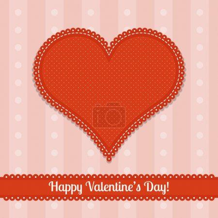 Vektorkarte für den Valentinstag.