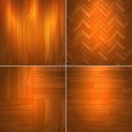 Illustration pour Ensemble de textures en bois.Illustration vectorielle . - image libre de droit
