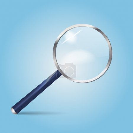 Realistic vector magnifying glass. Vector illustration.
