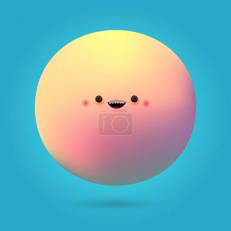 Illustration pour Illustration vectorielle d'un visage mignon . - image libre de droit