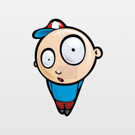 Illustration pour Illustration vectorielle d'un garçon mignon . - image libre de droit