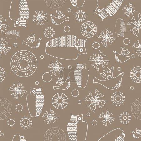 Illustration pour Fond folklorique vectoriel. Illustration vectorielle . - image libre de droit