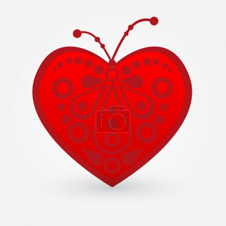 Photo for Vector illustration of a red heart. - Royalty Free Image