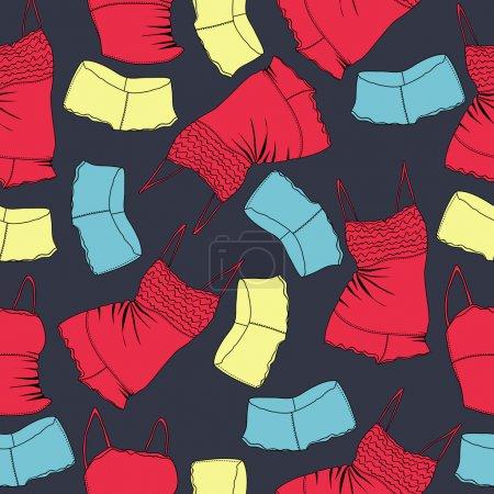 Illustration pour Fond vectoriel avec sous-vêtements . - image libre de droit