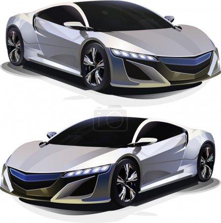 Sport Car. Vector illustration.