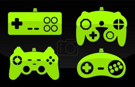 Vector illustration of gamepad joysticks.