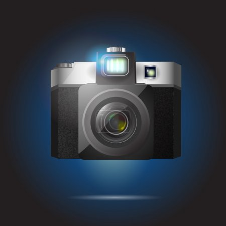 Illustration pour Illustration vectorielle de la caméra rétro - image libre de droit
