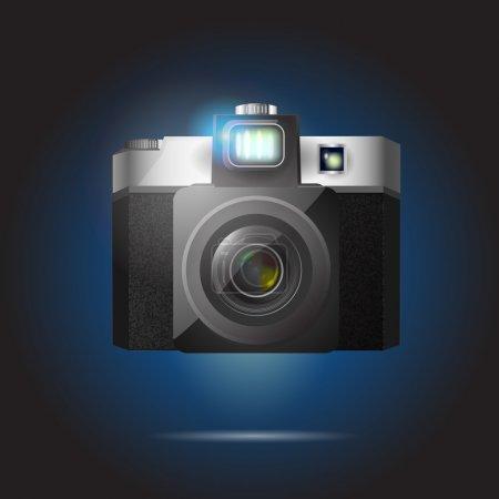 Vector illustration of retro camera