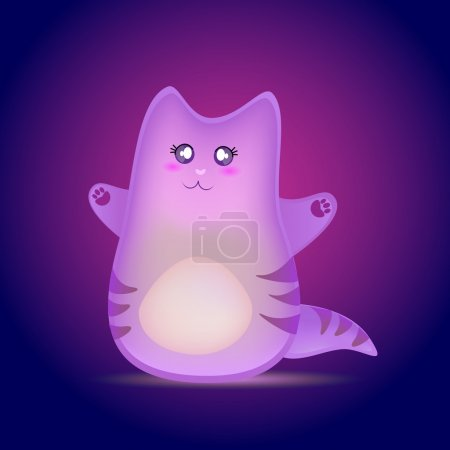 mignon dessin animé chat vecteur