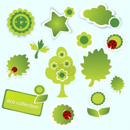 Eco collection. Vector illustration.