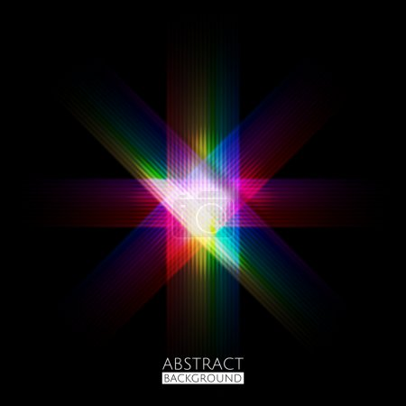 Abstract Colorful Dark Pattern Background. Vector Illustration