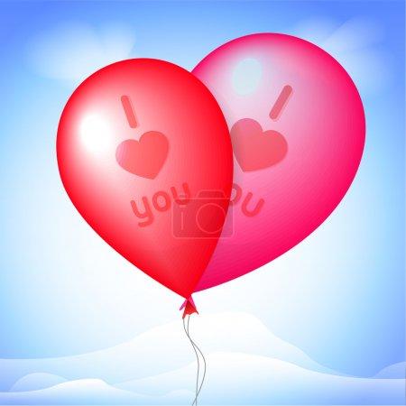Illustration pour Illustration vectorielle des ballons rouges . - image libre de droit