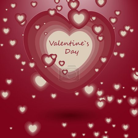 Vector illustration of romantic love background