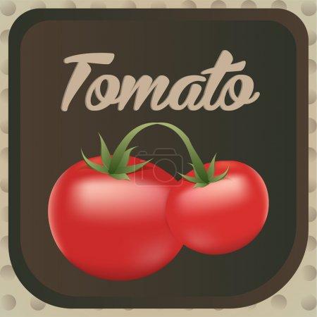 Illustration pour Conception d'étiquettes de tomates. Illustration vectorielle . - image libre de droit