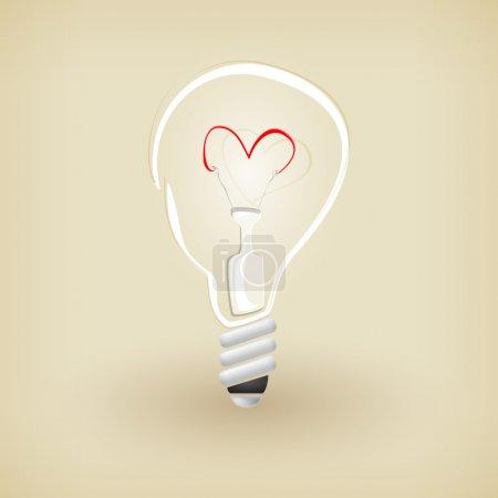 Light bulb. Vector icon.