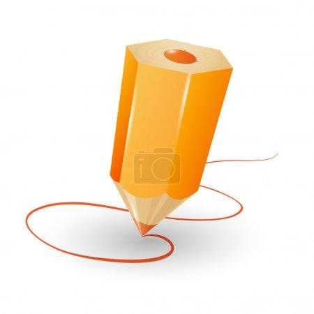 Pencil vector illustration. Vector illustration.