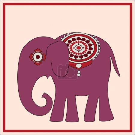 Illustration pour Fond vectoriel avec éléphant . - image libre de droit