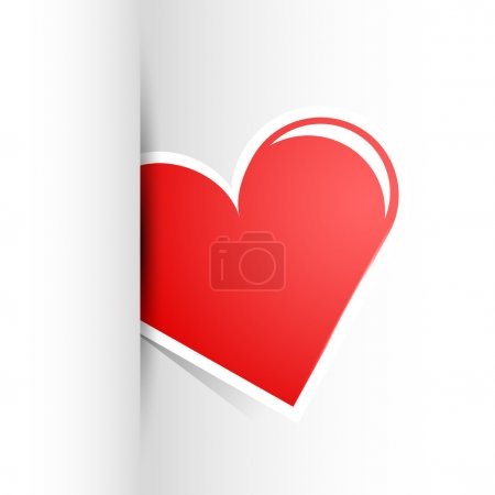 Vector wite background with heart.