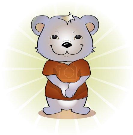 Illustration pour Illustration vectorielle de l'ours mignon. - image libre de droit
