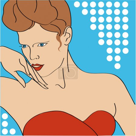 Illustration pour Portrait vectoriel d'une fille . - image libre de droit