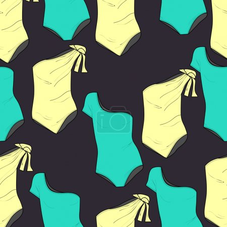 Vector background with swimsuits.