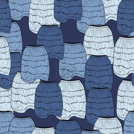 Photo pour Fond vectoriel avec jupes . - image libre de droit