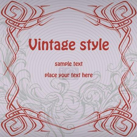Illustration for Vector vintage background design - Royalty Free Image