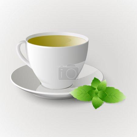 Illustration pour Vecteur tasse de thé vert . - image libre de droit
