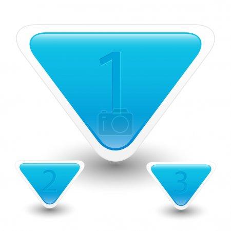 Illustration pour Boutons bleus avec numéros . - image libre de droit